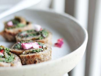 vegan sourdough pancakes with kale winter recipe