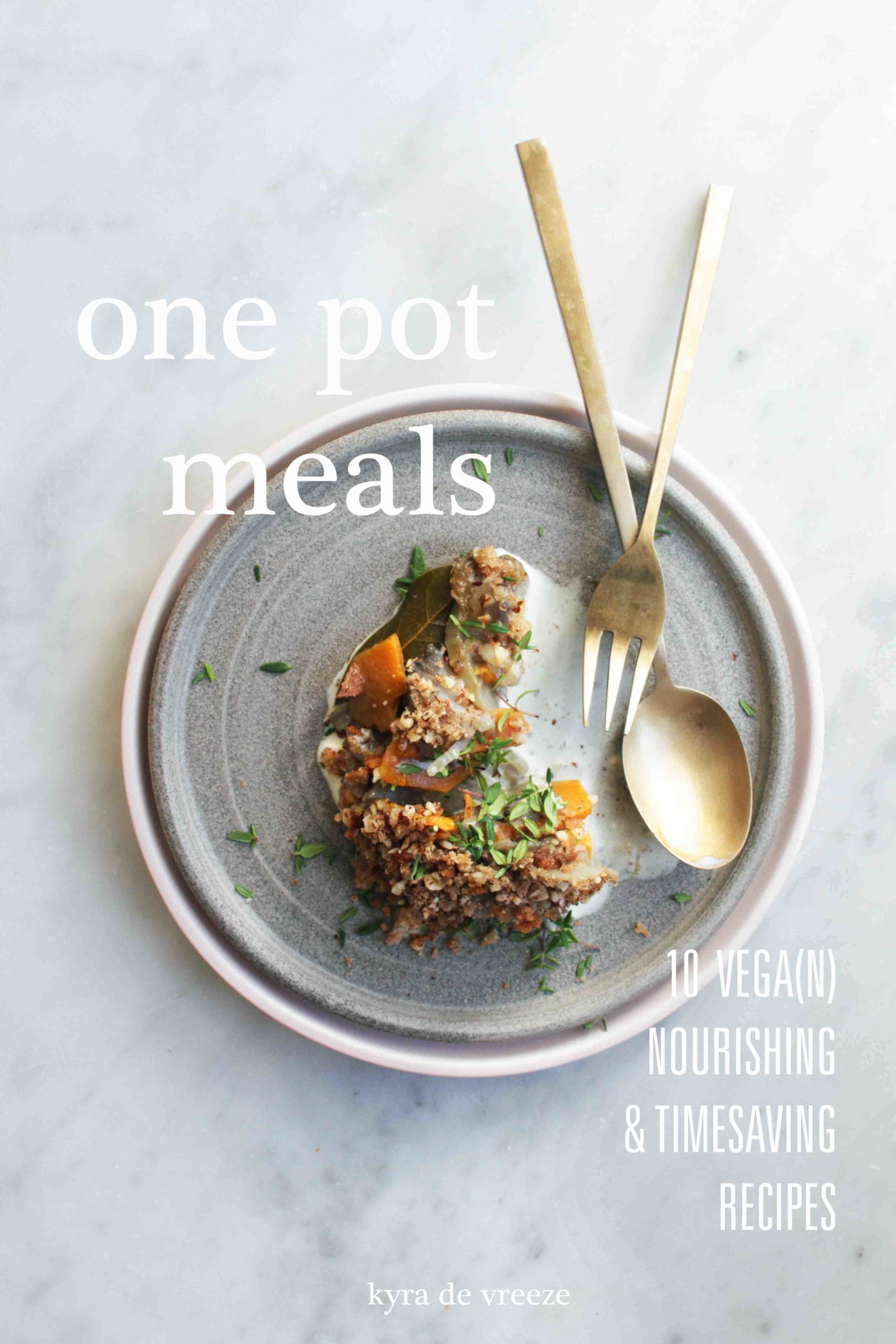 e-book one pot meals, 10 nourishing vegan and timesaving recipes