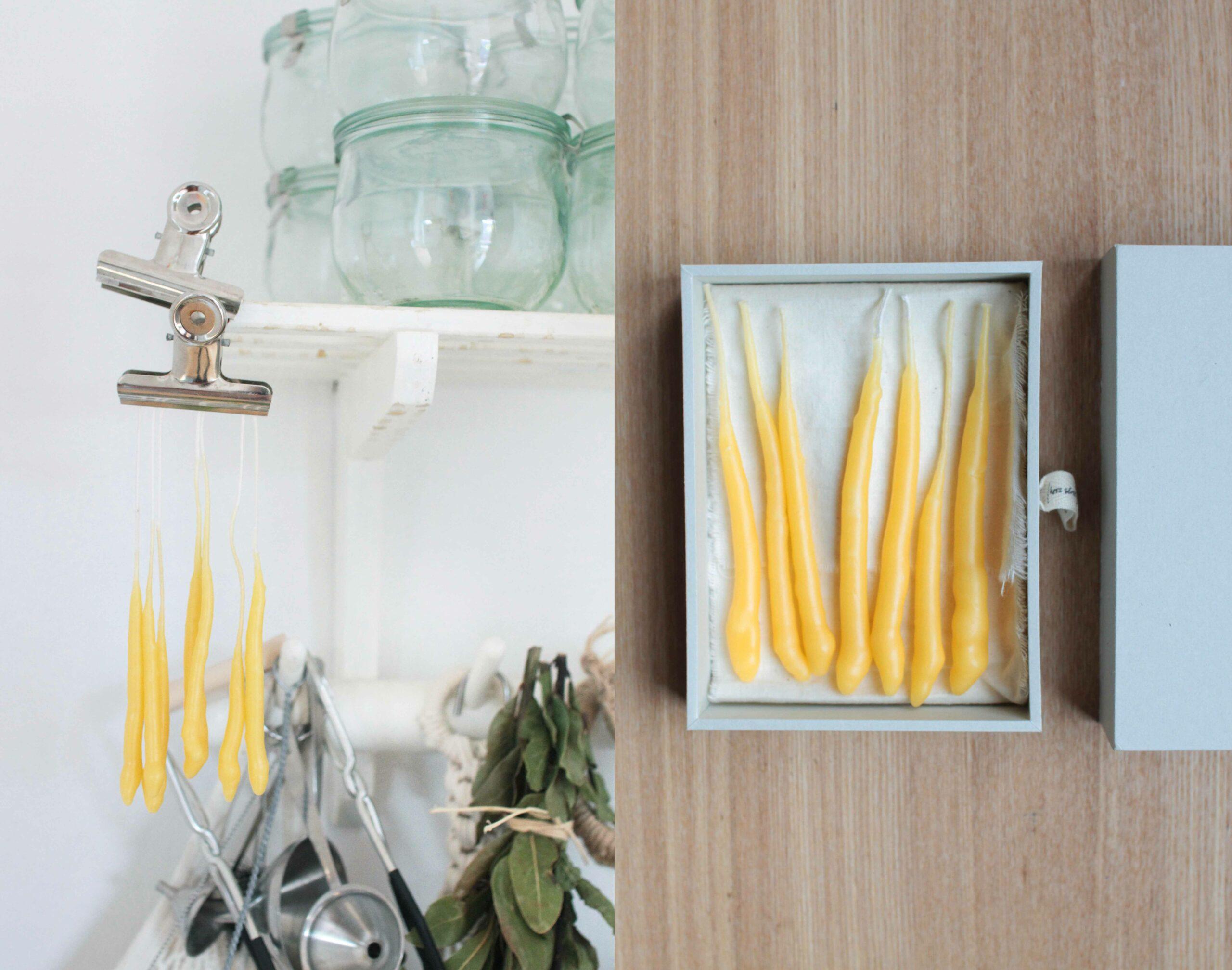 DIY beeswax birthday candles
